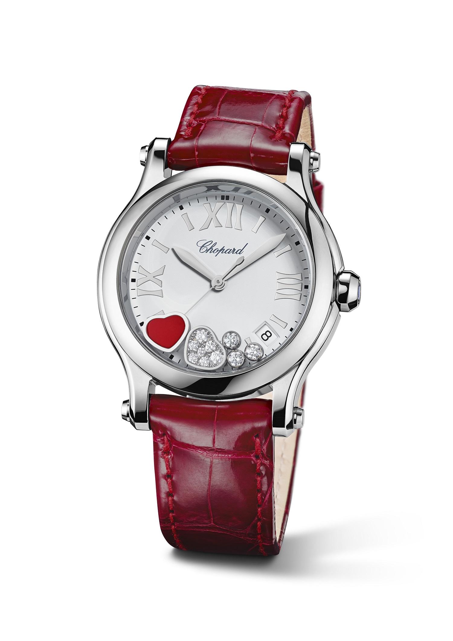 45cd54a2a Snob - Happy Hearts من Chopard ساعة تنبض بقلوب متراقصة لعيد الحب