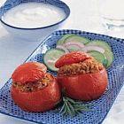 الطماطم المحشوّة بالفريكة