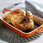 دجاج محمّص محشو بالهريس