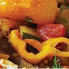 دجاج مع الباذنجان وجبنة الفيتا