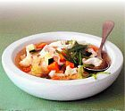 حساء الخضار الطازجة