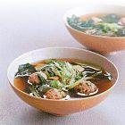 الحساء الآسيوي بالدجاج