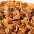 حساء العدس والمعكرونة