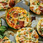 قضمات البيتزا بشرائح الكوسا