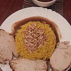 أرز بالزعفران  مع روستو حبش