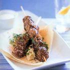 اللحم مع الصعتر