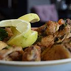 جوانج الدجاج بالكزبرة والثوم