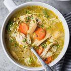 حساء الكرافس والدجاج
