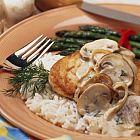 دجاج بالفطر