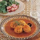 كرات الدجاج مع الطماطم والزعفران