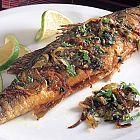 السمك المشوي بالكزبرة