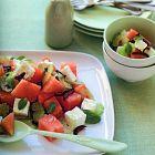 سلطة البطيخ مع جبنة الفيتا