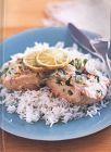 فيليه السمك مع الأرز