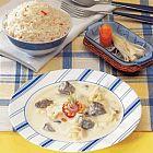 مرق اللحم واللبن الزبادي مع القرنبيط