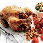 الدجاج المحشو بالكسكس