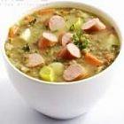 حساء الفاصوليا بالنقانق