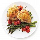دجاج مشوي مع الهليون