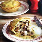 الفطيرة بالدجاج والأوريغانو