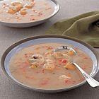 حساء الربيان وخلاصة الفطر