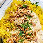 أرز مع فيليه السمك